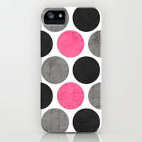 cosmopolitan polka dots iPhone Case by her art