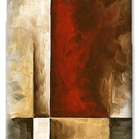 Abstract Contemporary Art Original Painting In Neutral Shades With Red Burnished I By Madart IPhone 6s Case