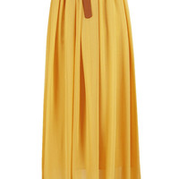 High Waisted Chiffon Maxi Skirt
