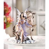 Fairy And Unicorn Figurine Home Decor