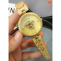 Versace Popular Woman Men Fashion Quartz Movement Watch 3#