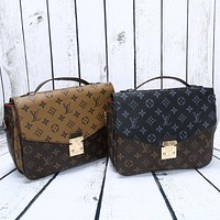 Tagre™ Louis Vuitton Fashion Multicolor Classic Retro Logo Print Women Postman Handbag Single Shoulder Messenger Bag