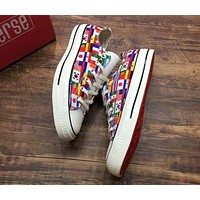 Converse World Cup Commemorative 32 strong flag printed canvas shoes F-CSXY