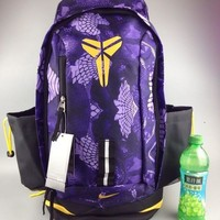 DCCK Nike Fashion Kobe Canvas Leisure Sports Travel Backpack 55-32-25cm Purple Yellow