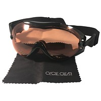 Cycle Clear ZL3 - Over Glasses Motorcycle Goggles - Amber Lens