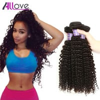 Malaysian Hair 3 Bundles Lot 7A Unprocessed Malaysian Kinky Curly Virgin Hair Human Hair Extensions