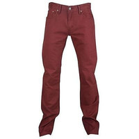 Levi's 514 Men's Slim Straight Fit Denim Twill Jeans Andorra Red