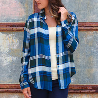 Plaid Everything Blouse {Navy Mix}
