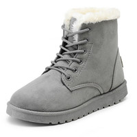 New Warm Winter Boots For Women Ankle Boots Waterproof Snow Girls Boots Female Shoes Suede with Plush Insole Botas Mujer