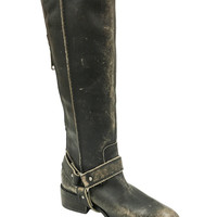 Corral Distressed Black Tall & Harness Boots