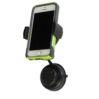 Evelots Adjustable 360 Degree Cell Phone Car Suction Cup Mount, Black