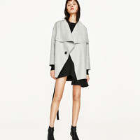 CROSSOVER BELTED COAT