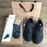 350 Boost Sneakers Training Shoes Fashion Women and Men Running Sports Shoe Low Kanye West Boots (Keychain+Socks+Bag+Receipt+Box)-1