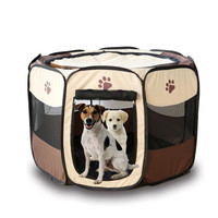 3 Colors Portable Folding Pet Tent Playpen Dog Cat Fence Puppy Kennel Easy Operation Folding Exercise Play In House Or Outdoor