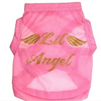 New Fashion Pet Dogs Clothes Supplies & Angel Wings Sweet Vest Clothes Costumes T Shirt ropa para perros vestidos Smile