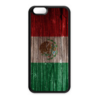 Vintage Wood Flag of Mexico - Mexican Flag - Bandera de Mexico Silicon Case for Apple iPhone 6 by World Flags