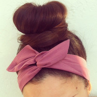 Purple Plum Dolly Bow Headband