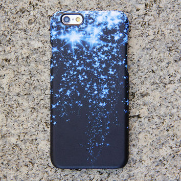 Blue Glitter Style iPhone 6 Case Dancing Stars Galaxy S6 edge S6 S5 S4 Note 3 Case Sparkly iPhone 5S 5iPhone 5CiPhone 4S/4 Case 021