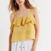 UO Coco Ruffle Lace Cami   Urban Outfitters