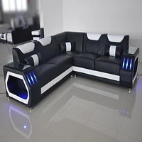 Glamorous Wide Sectional  Sofa For Living Room with Infinite Illusion Mirror Coffee Table sold separately