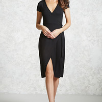 Surplice Wrap Dress