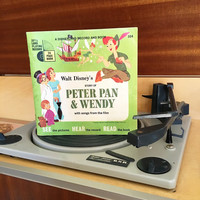 Vintage 1952 The Story of Peter Pan And Wendy by Disneyland Records - Story Book and Vinyl Record / Walt Disney Productions