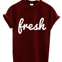 Fresh loose street t shirt swag hipster dope tumblr swag top men girl women celine paris XXX 2013