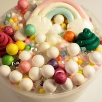 Unicorn Poop Slime with Glitter  secretly Scented Slime with Charms