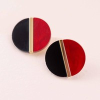 Color Block Stud Earrings