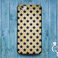 iPhone 4 4s 5 5s 5c 6 6s plus iPod Touch 4th 5th 6th Generation Blue Star Pattern Design Modern Cool Artistic Phone Cover Cute Adorable Case