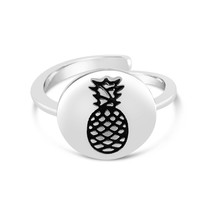 Fruit Inspired Hawaii Central Engraved Pineapple Ring