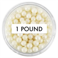 Pearly Natural Sugar Pearls 1 LB