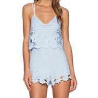 SAYLOR Rory Romper in Baby Blue