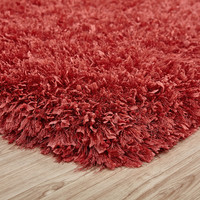 Crystal Shag Peach Hand Tufted Area Rug