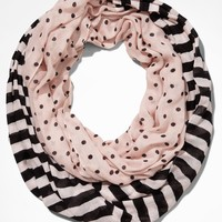 STRIPE AND DOT INFINITY SCARF