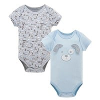 2pcs/set Baby Boys Girls Short Sleeve Rompers For Summer 2017 Newborn Infant's Clothes Toddler Costume Jumpsuit KF109