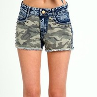Camo Studded Shorts from CherryKreations21
