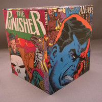The Punisher comic book decoupage tissue box cover