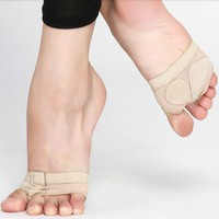 Professional Belly Ballet Dance Toe Practice Shoe Foot Thongs Half Sole Footundeez For Modern Dance Socks Sandal Step Gym Shoes