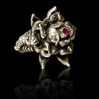 Imperial Rose Collections Rose Scorpion Ring by IMPERIALSILVER