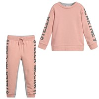 Girls Pink and Grey Logo Sweatsuit