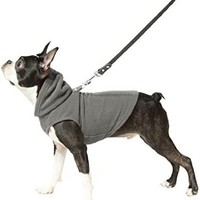 Gooby Every Day Fleece Cold Weather Dog Vest with Hoodie for Small Dogs, Gray, Medium