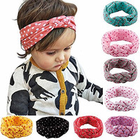 ZHW Baby Girl Newest Turban Headband Head Wrap Knotted Hair Band 8 pack