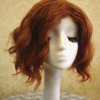 The First Avenger Black Widow Natasha Romanoff Cosplay Wig, Golden Brown Anime Wigs for Party UF108