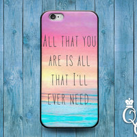 iPhone 4 4s 5 5s 5c 6 6s plus + iPod Touch 4th 5th 6th Gen Cover Cute Case Quote Beach Lyric Romantic Couple Gf Bf Wife Hubby Ocean Sand