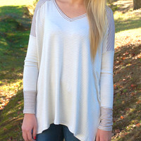 Claim To Fame Tunic-Taupe