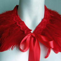 Red Feather Collar - Convertible