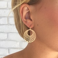 Catcher Earrings in Gold