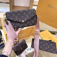 LV Louis Vuitton Multi Pochette Felicie Three-in-One Mahjong Bag