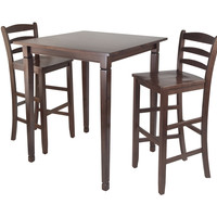3Pc Kingsgate High / Pub Dining Table With Ladder Back High Chair